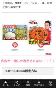 WPQUADS 広告複数配置